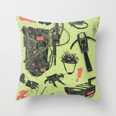 Artifacts: Ghostbusters Throw Pillow