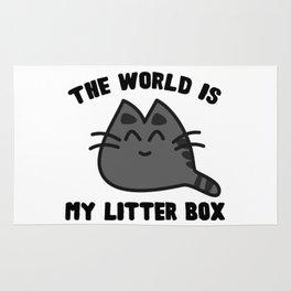 World Litter Box Rug