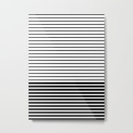 Lines - BW Metal Print