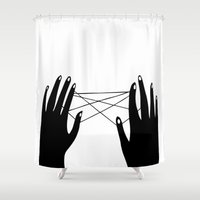 hands Shower Curtains featuring Hands by Good Sense