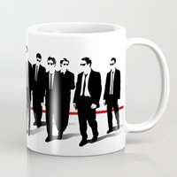 blues brothers Mugs featuring Reservoir Brothers by The Cracked Dispensary