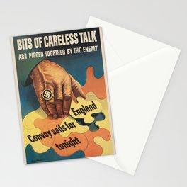 Vintage poster - Careless Talk Stationery Cards
