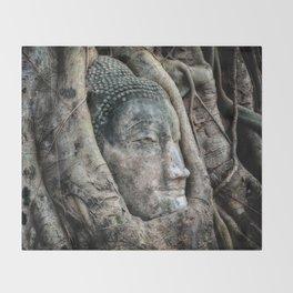 Banyan Tree Buddha Throw Blanket
