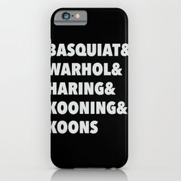 80's modern and pop art list iPhone Case