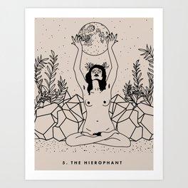 5. The Hierophant Art Print