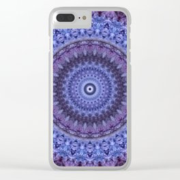 Mandala in violet and blue tones Clear iPhone Case