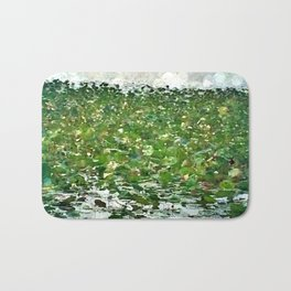 Lily Pads On The River Bath Mat