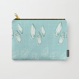 Crystal mint green pattern Carry-All Pouch