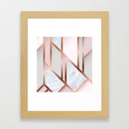 White Pastel Art Deco Framed Art Print