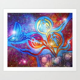 Cosmic Hummingnectar Art Print