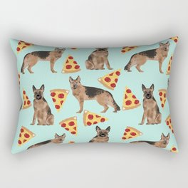 German Shepherd pizza party dog person gifts pet portraits dog breeds cheesy pizzas Rectangular Pillow