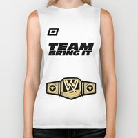 wwe Biker Tanks featuring Team Bring It The Rock WWE by ems23