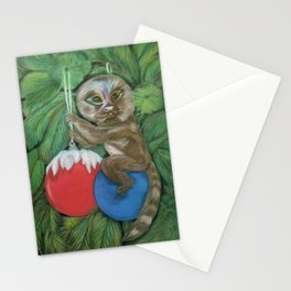 Pygmy Marmoset in the Festive Christmas Tree Stationery Cards