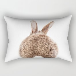 Bunny Tail, Brown Bunny Rabbit, Baby Animals Art Print By Synplus Rectangular Pillow