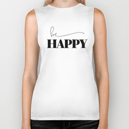 Be Happy Biker Tank