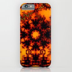 Mystical Golden Fire Lake, Abstract Fractal Baroque Illusion iPhone 6s Slim Case