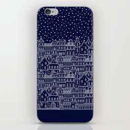 Christmas city iPhone Skin
