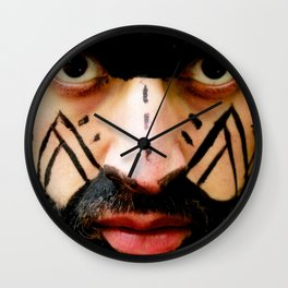 Colombian Tribal Bear Mark Of Courage by Wendy C Vega Wall Clock