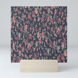 Polka Dotted Rosebuds Mini Art Print