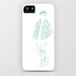 Boy Greeny iPhone Case