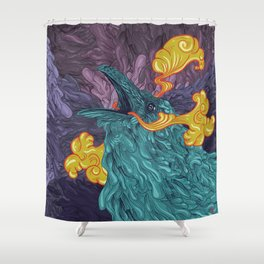 Water Crow Shower Curtain