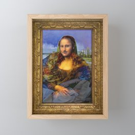 Mona (Kevin) Lisa : Satire + Contemporary Fine Art Framed Mini Art Print