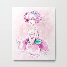 Lady Rose Shoujo Anime Art Metal Print