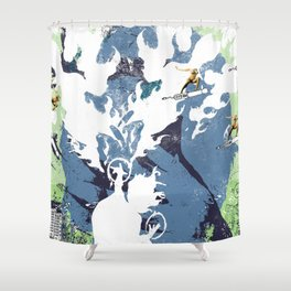 Blow Back - 2 Shower Curtain