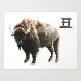 Chinese Zodiac (Ox)  Art Print