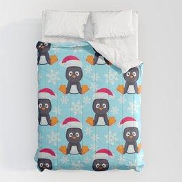 Snowy Penguins Pattern Comforters