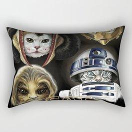 Cat Wars four Rectangular Pillow