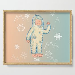 Yeti - Cute Cryptid Serving Tray