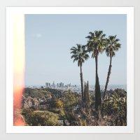 los angeles Art Prints featuring Los Angeles by Luke Gram
