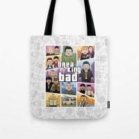 gta Tote Bags featuring Lego Gta Mashup Breaking Bad by Akyanyme