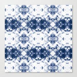 Shibori Tie Dye 3 Indigo Blue Canvas Print