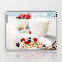 Oatmeal porridge with fresh berries and almond milk Laptop & iPad Skin
