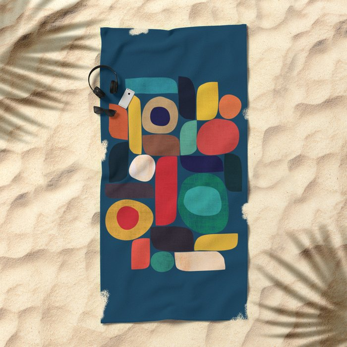 Miles and miles Beach Towel