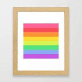 Love the Rainbows Framed Art Print