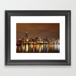 the Chicago Lakefront Framed Art Print