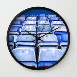 Blue Football Wall Clock