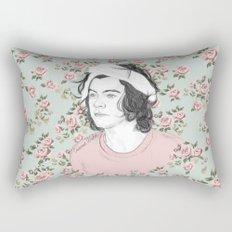H circle floral  Rectangular Pillow