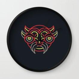 Diablada Mask Wall Clock