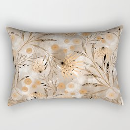 Beige floral pattern. Rectangular Pillow