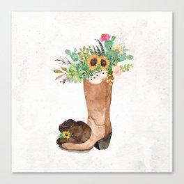 Southwestern Sunflower Canvas Print