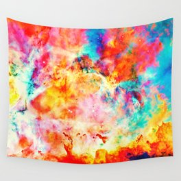 Colorful Abstract Nebula Wall Tapestry