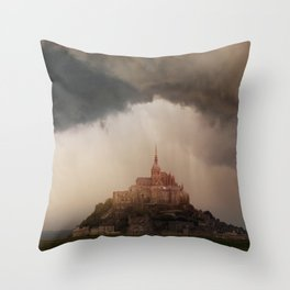 Cloudy afternoon in northern France Throw Pillow