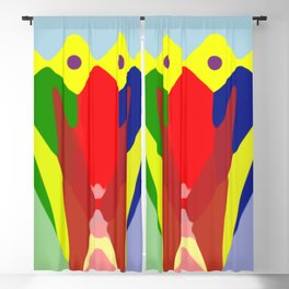 latin colours and forms Blackout Curtain