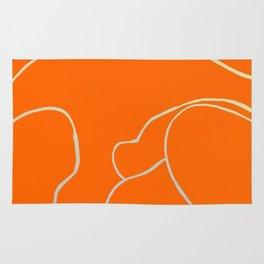 Lined - Orange Rug