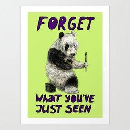 Conspiracy // false panda Art Print