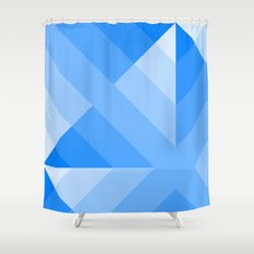 Blue Gradient abstract Shower Curtain